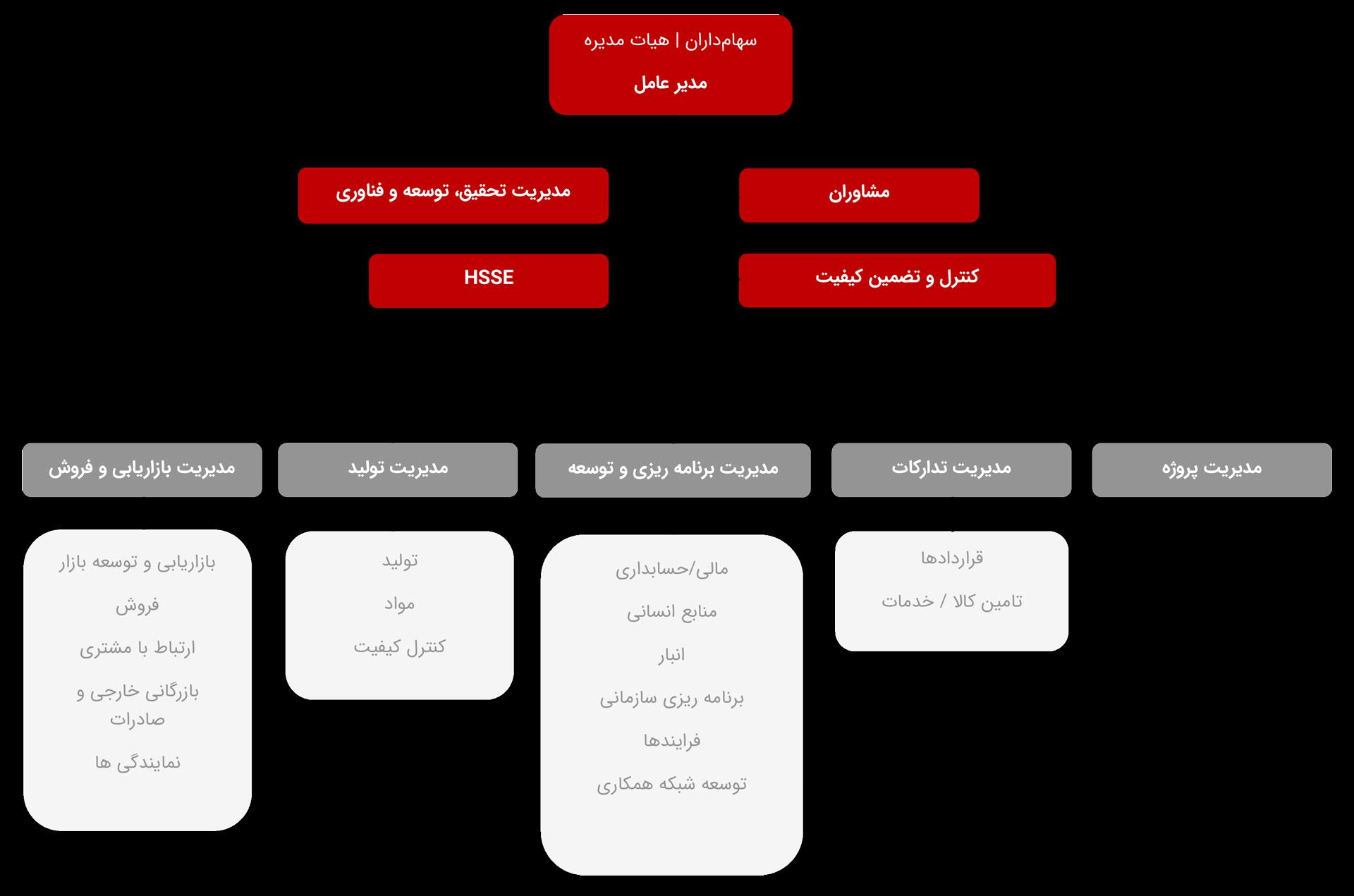 چارت سازمانی ماتیا