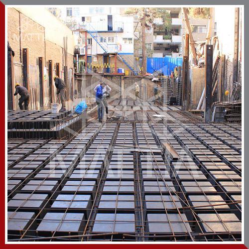 پروژه ظفر-جردن آفریقا - اجرا، طراحی سازه، طراحی و اجرا به روش تاپ داون top-down ، تامین قالب وافل سقف