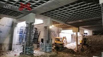 طراحی و اجرای سازه با روش بالا به پایین | Top-Down construction