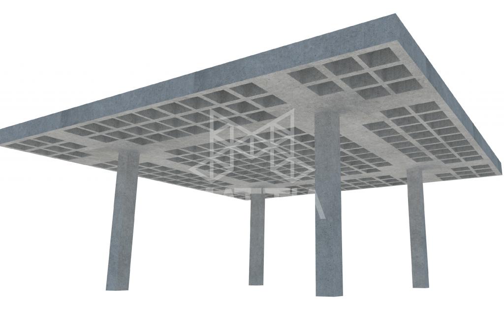 سازه سقف با دال مشبک سقف وافل