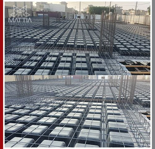 پروژه گناوه طراحی و اجرای سقف وافل و تامین قالب وافل سقف