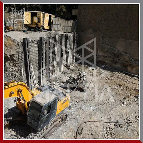پروژه مسکونی مرجان نیاوران 13 طبقه ساره بتنی 3960 متر مربع طراح سازه طراح و مجری پایدار سازی گود ماتیا ساختمان پایدار سازی گود روش ترکیبی انکراژ و تاپ داون