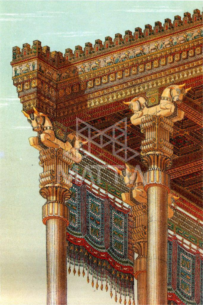 سقف وافل در کاخ آپادانا تخت جمشید