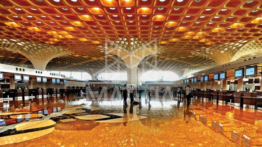 معماری سقف فرودگاه بینالمللی بمبئی هند