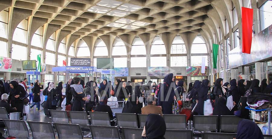 سقف وافل ایستگاه راهآهن اصفهان