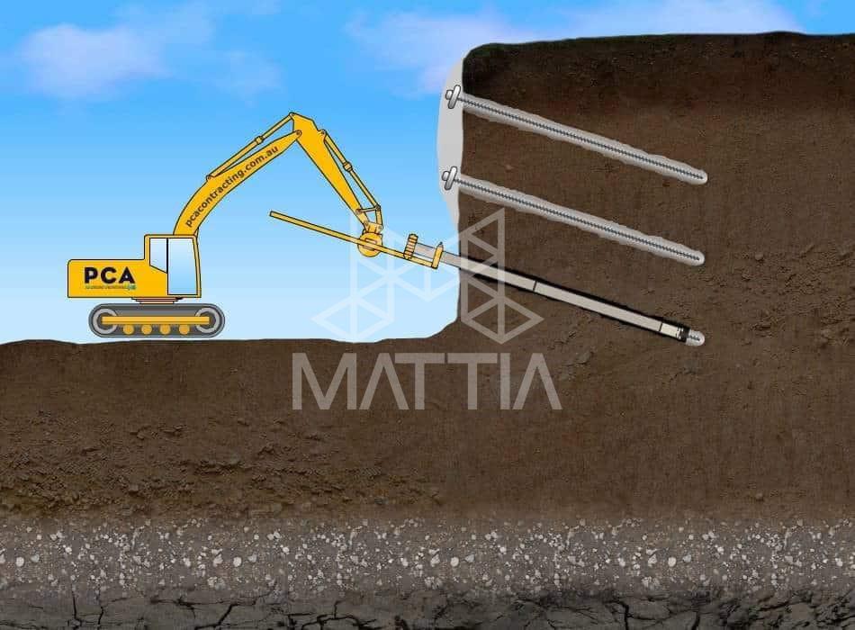 پایدارسازی گود - روش میخکوبی خاک Soil Nailing