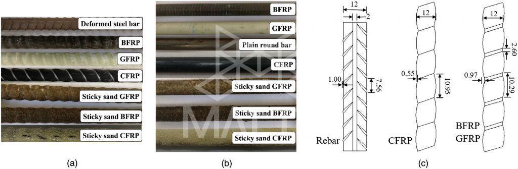 مقایسه انواع میلگردهای فولادی استیل و FRP و GFRP