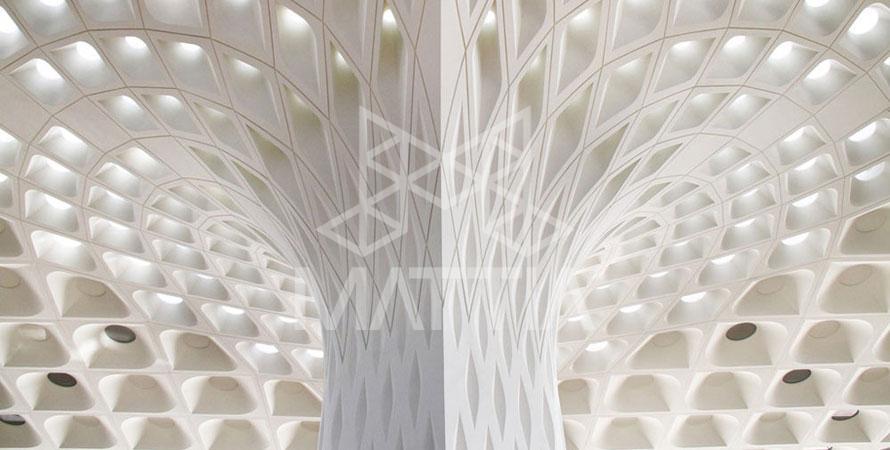 یک پروژه اجرا شده با GFRG مخفف Glass Fiber Reinforced Gypsum به معنی گچ مسلح و تقویت شده