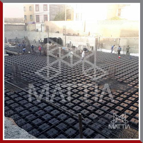 پروژه تامین قالب وافل ماتیا برای 8 طبقه سقف در خاوران