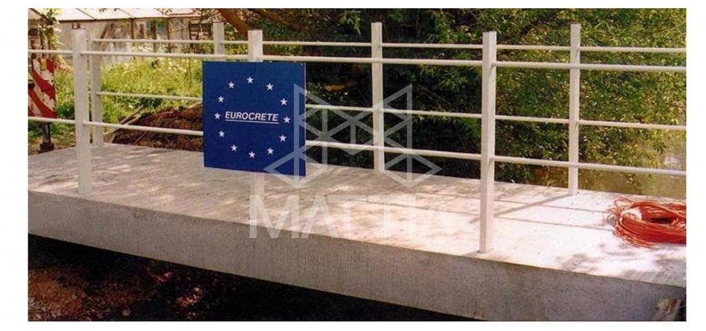 شکل 1: اولین پل عابر اروپا ساخته شده فقط با تسلیح FRP آشنایی با کاربردهای بتن مسلح به آرماتور FRP و دلایل استفاده آن