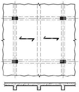 جهت توزیع بار در دال یکطرفه - سیستم سقف دال تخت متکی بر تیر
