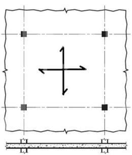 دال تخت - سیستم سقف دال تخت متکی بر تیر