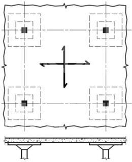 دال تخت قارچی - سیستم سقف دال تخت متکی بر تیر
