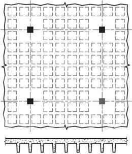 دال مجوف وافل - سیستم سقف دال تخت متکی بر تیر