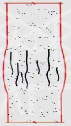 شکل 3: شکاف شکاف در ستون بتنی