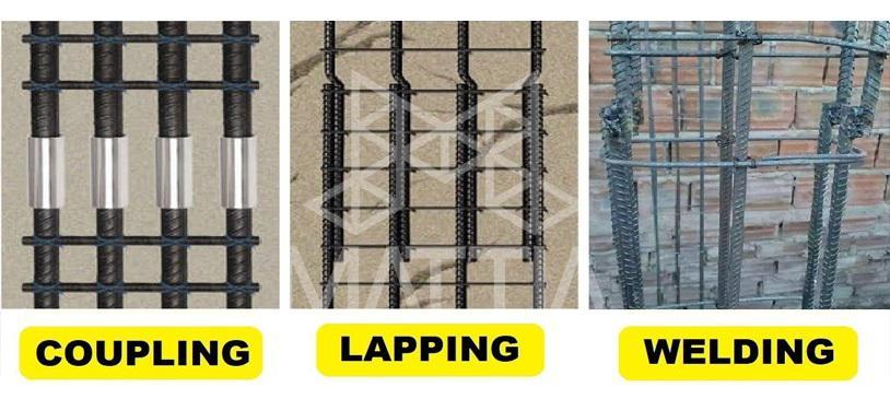 بهترین روش اتصال میلگرد اورلپ وصله پوششی، کوپلر وصله مکانیکی یا جوش فورجینگ فورج کردن