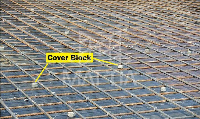 دلیل استفاده از لقمه بتن اسپیسر بتن بلوک پوشش Cover Block چیست؟ انواع بلوک های پوششی یا لقمه بتن و اسپیسر بتن چرا از لقمه گذاری در تقویت سازه بتنی استفاده می شود؟ نکات مهم در استفاده