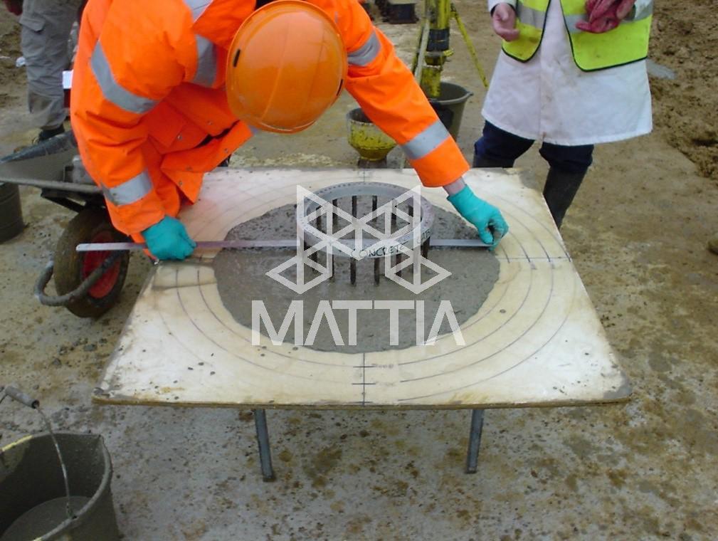 آزمایش حلقهی J بتن خودمتراکم یا بتن خودتراکم چیست؟ SCC Self-Compacting Concrete